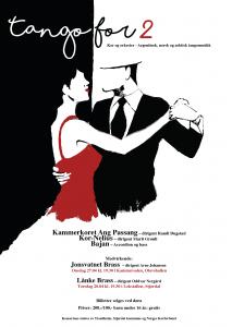 Tango for to kor og orkester -plakat